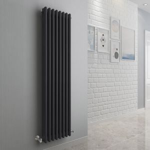 Bern 1500 x 380mm Anthracite Triple Vertical Column Radiator