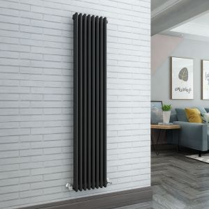 Bern 1800 x 380mm Anthracite Triple Vertical Column Radiator