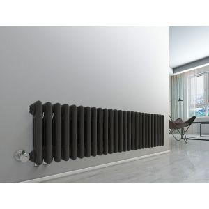 Bern 300 x 1190mm Anthracite Triple Horizontal Column Radiator