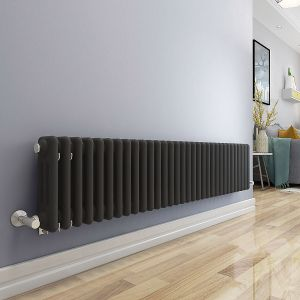 Bern 300 x 1460mm Anthracite Triple Horizontal Column Radiator