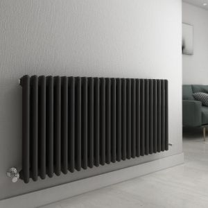 Bern 600 x 1190mm Anthracite Triple Horizontal Column Radiator