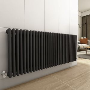 Bern 600 x 1460mm Anthracite Triple Horizontal Column Radiator