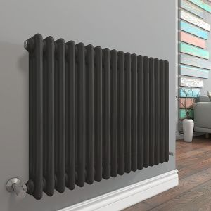 Bern 300 x 830mm Anthracite Triple Horizontal Column Radiator