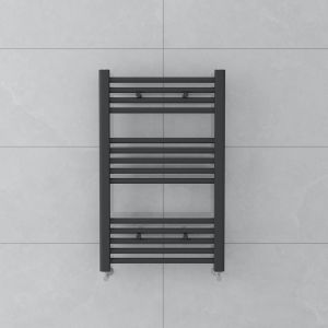 Bergen 800x500mm Straight Grey Towel Radiator