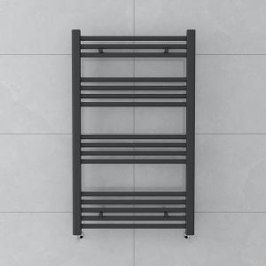 Bergen 1000x600mm Straight Grey Towel Radiator