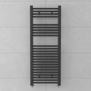 Bergen 1200x450mm Straight Grey Towel Radiator