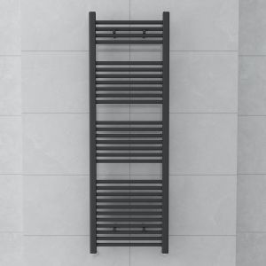 Bergen 1500 x 500mm Straight Grey Towel Radiator
