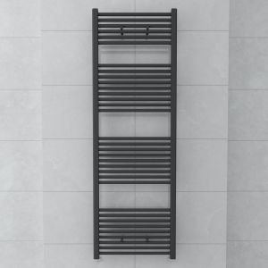 Bergen 1800 x 600mm Straight Grey Towel Radiator