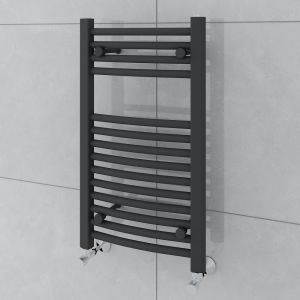 Fjord 700 x 400mm Curved Grey Towel Radiator