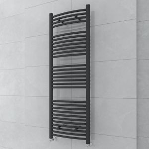 Fjord 1500 x 500mm Curved Grey Towel Radiator