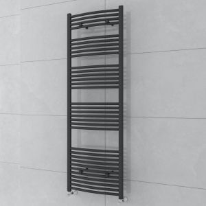 Fjord 1800 x 600mm Curved Grey Towel Radiator