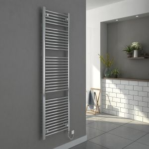 Bergen 1800 x 500mm Straight Chrome Electric Heated Towel Rail
