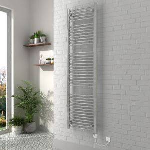 Vienna 1800 x 500mm Curved Chrome Electric Heated Thermostatic Towel Rail