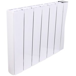 Bismo Wifi 575 x 713 mm White Wall or Floor Mounted 1500W Oil Filled Electric Radiator