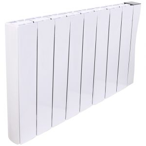 Bismo Wifi 575 x 942 mm White Wall or Floor Mounted 2000W Oil Filled Electric Radiator