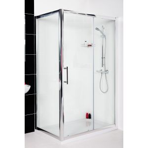 Aquariss 1000 x 800mm Sliding Door Shower Enclosure with Easy Clean Glass - With Shower Tray & Waste