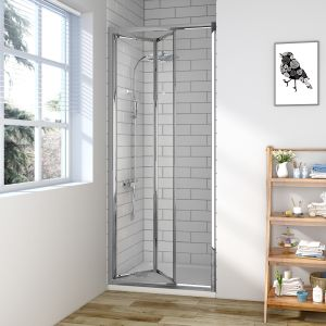 Aquariss Bi-Fold Enclosure 80X190mm 6mm 3M Glass Silver Frame