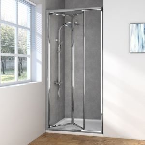 Aquariss Bi-Fold Enclosure 90X190mm 6mm 3M Glass Silver Frame
