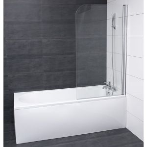 Aquariss® 1400mm Frameless Bath Screen with Easy Clean Glass