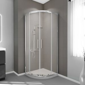 800X800mm Quadrant Shower Enclosure 6mm Glass - FREE Shower Tray & Waste