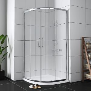 Aquariss® 900mm Quadrant Shower Enclosure - FREE Shower Tray & Waste