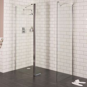 Aquariss 800 x 700mm Wet Room Shower Enclosure with 8mm Easy Clean Glass