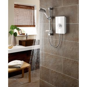 Triton Aspirante Electric Shower 9.5kW - White Gloss