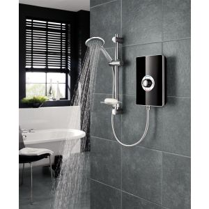Triton Aspirante Electric Shower 8.5kW - Black Gloss