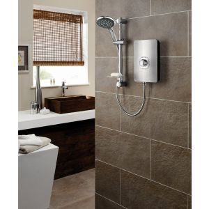 Triton Aspirante Electric Shower 8.5kW - Brushed Steel
