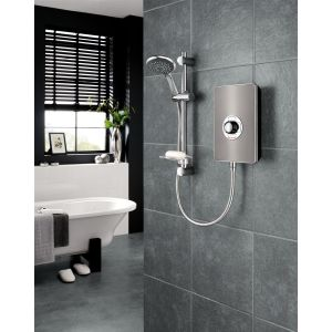 Triton Aspirante Electric Shower 9.5kW - Gun Metal