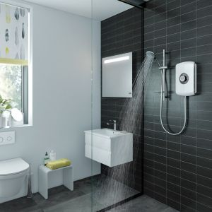 Triton Amore Electric Shower 9.5kW - White Gloss