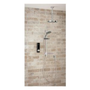 Triton HOME Digital Mixer Shower Diverter with Riser Rail & Fixed Shower Head - Low Pressure