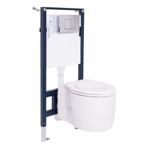 Yin Wall Hung Toilet with Soft Close Seat and Wall Mounting Frame