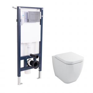 Vitalise Back to Wall Toilet with Soft Close Seat and Mounting Frame