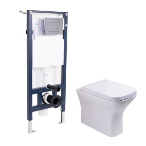 Feel Curved Back to Wall Toilet with Soft Close Seat and Mounting Frame