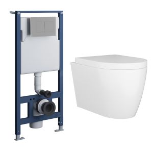 Cordoba Wall Hung Toilet with Soft Close Seat and Wall Mounting Frame