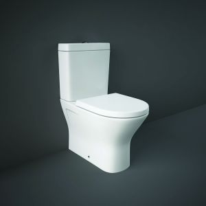 RAK Close Coupled Closed Back to Wall Toilet Pan With Cistern & Soft Close Seat