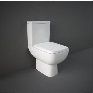 RAK-Series 600 Close Coupled Open Back to Wall Pan, Cistern & Soft Close Seat