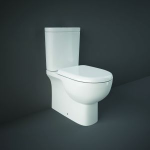 RAK-Tonique Close Coupled Closed Back WC Pan, Cistern and Soft Close Seat