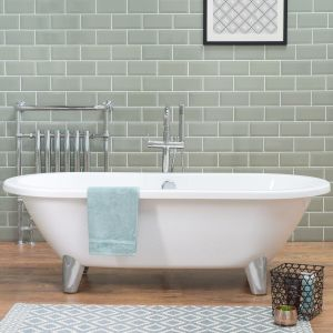 Energise 1760 x 790mm Luxury Double Ended Freestanding Bath