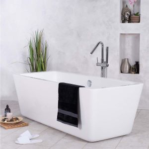 W@sh Squared 1755 x 760mm Luxury Freestanding Bath