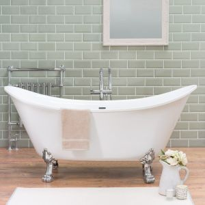 Solitude 1730 x 750mm Traditional Freestanding Bath