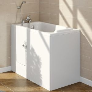 Lindley 1210mm Left Hand Easy Access Deep Soak Walk In Bath