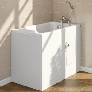 Lindley 1210mm Right Hand Easy Access Deep Soak Walk In Bath