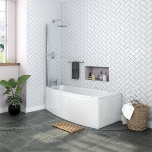 Yang Luxury Space Saver 1695 x 695mm Left Hand Bath
