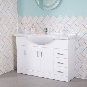 Absolute 1200 Bathroom Vanity Unit & Basin - White
