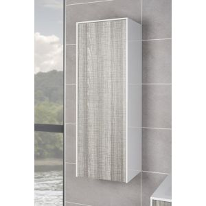 Soul Ash Grey 350mm Wall Hung Bathroom Tall Storage Unit