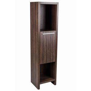 Dunham Walnut 400mm Bathroom Tall Storage Unit