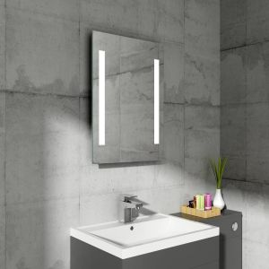 Snow 700 x 500mm Illuminated LED Mirror with Demister