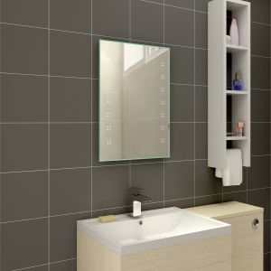 Delta 700 x 500mm Illuminated LED Mirror with Demister